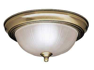 KICHLER 8653AB Flush Mount Ceiling Light Antique Brass 100W