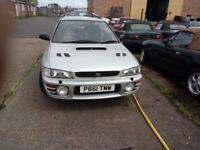 Subaru Impreza classic uk turbo 2000, engine runs, with mods, spares or repair