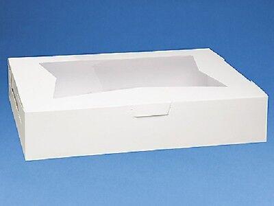 Pack Of 25 White 19x14x4 Window Bakery Or Cake Box
