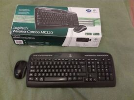 Keyboard and Mouse logitech MK320 pc computer