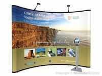 2 Nomadic 3x3 (8FT Wide) Exhibition Expo Displays With lighting and extras
