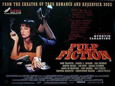 Pulp Fiction Movie Poster 11X17 Uk John Travolta Samuel L  Jackson Uma Thurman