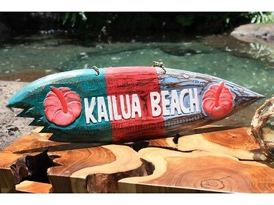 Hawaiian Kailua Beach Shark Bite Surf Sign Tropical Pool Decor GREAT GIFT IDEA!! - Shark Decorating Ideas