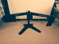 Heavy duty triple monitor stand, perfect condition