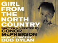 2 tickets for 'Girl from the North Country' at The Old Vic, Dress Circle seats