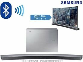6.1 CHannel Samsung HWJ6501 Curved Soundbar with Wireless Subwoofer - Silver