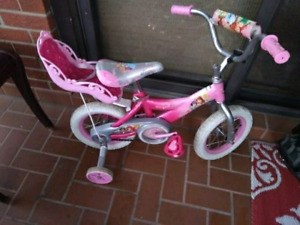 Barbie Bicycle w/Training Wheels and Doll Carrier
