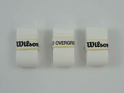 *NEU*3 Wilson Pro Overgrip Griffband weiß Over Grip Griff Tennis 3er Tour new