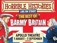 2 Theatre Tickets for Horrible Histories - The Best of Barmy Britain