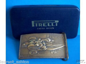 SALVADOR-DALI-PIRELLI-BRASS-BRONZE-SCULPTURE-BUCKLE