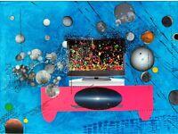 videophilia ,2015, acrylic ,collage 50cmx60cm