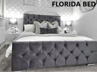 Brand New Luxurious Panel Sleigh Chesterfield Bed Frame & Mattress Special Offer On Now