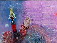 ode to joy ,2015,collage,acrylic, 80cm x 70cm