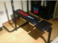 York Fitness Weights bench and bar