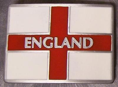 Pewter Belt Buckle National Flag of England cross of Saint George (Flag Pewter Belt Buckle)