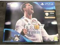 Brand new PS4, 500mb, black. + Controller+ 12 months warranty + 3 games