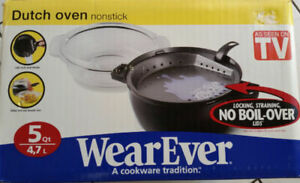 WearEver Dutch Oven - Non Stick 4.7 L No Boilover Lid BRAND NEW