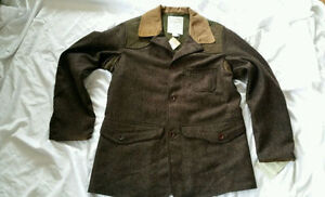 NWT FILSON WOOL TWEED HUNTING JACKET SIGNED BY DESIGNER