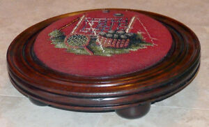 New Price - Antique Victorian Beaded Foot Stool Kingston Kingston Area image 2