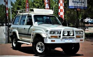 Toyota Landcruiser FZJ80R GXL 6 Seater Silver Wagon 4.5l 4x4 Mount Hawthorn Vincent Area Preview