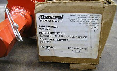 New General Equipment Extension Earth Auger 5500-4x3. 3 Ft. Depth Item 8591