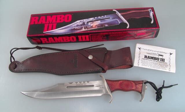 "Original Gil Hibben United Cutlery Rambo III 16"" Bowie Knife"