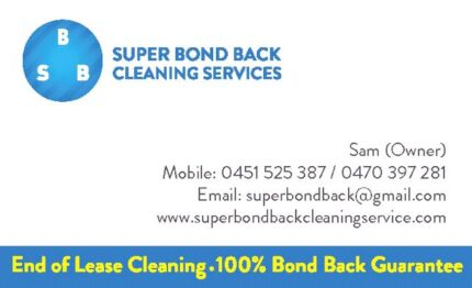 Super Bond Back End of Lease  Cleaning Service