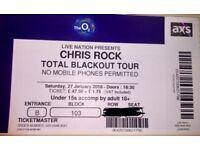 Chris Rock Total Blackout Tour - 2 x lower tier tickets - 27 January 2018 - £160