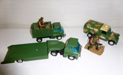 Vintage Army Trucks & Figures