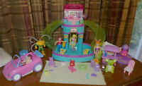 PISCINE DISCO et auto Polly Pocket Mattel lot 30 mcx, 20$