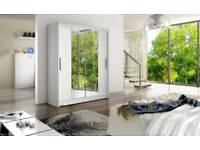 150cm width Two Sliding Door Wardrobe with Mirrors