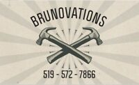 BRUNOVATIONS FREE QUOTES ON YOUR NEXT RENO PROJECT