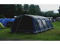 Outwell hornet 6sa 2016 airbeam tent with footprint, outwell 3 layer insulated carpet & stove.