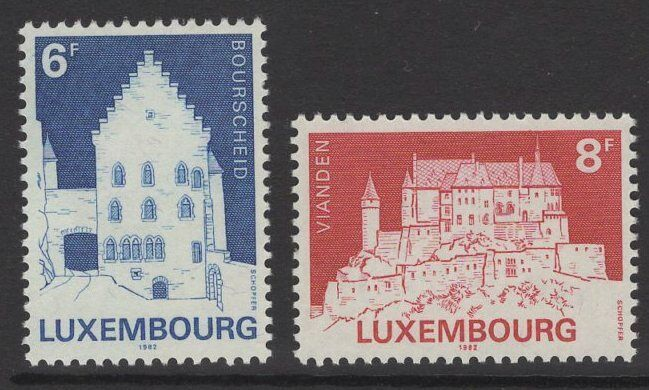LUXEMBOURG SG1092/3 1982 CLASSIFIED MONUMENTS MNH