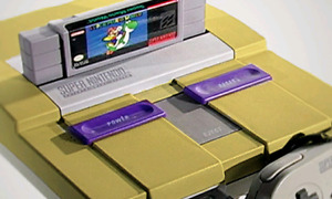 Super Nintendo with 6 games