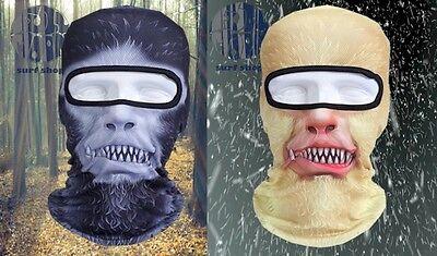 New Full Face Mask Bigfoot Yeti Abominable Snowman Sasquatch 3D print Balaclava - Bigfoot Masks