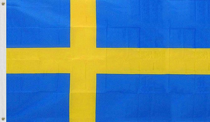 Sweden Flag 3 X 5 Feet - Official Swedish Country Flag for Indoor and Outdoor