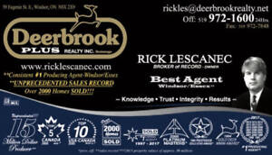 Selling? Buying ? I can help -Rick Lescanec Broker of Record