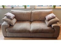 Fabric Riviera 3 Seater Standard Back Sofa (Harveys) - Excellent condition