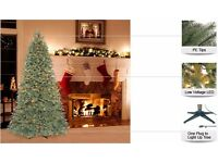 BRAND NEW 7 ft. Benjamin Fir Quick-Set Artificial Christmas Tree with 300 Clear Lights