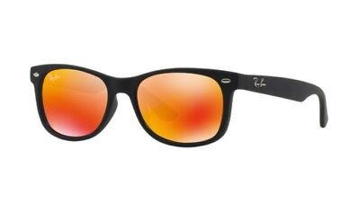 Ray Ban Junior sunglass RJ9052S 100S6Q Matte  black - red mirror & Slip in (Boys In Ray Bans)