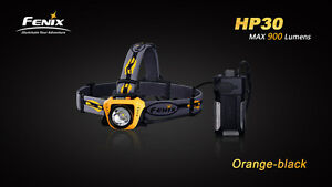 Fenix HP30 Orange Cree XM-L2 LED 18650 Headlamp with USB Power