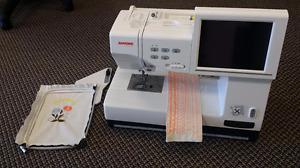 JANOME MC 11000 EMBROIDERY SEWING MACHINE