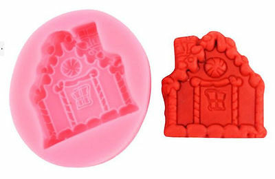 Gingerbread House Cottage Christmas Pink Silicone Mold for GP Fondant Chocolate](Christmas Chocolates)