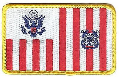 VELCRO Ensign flag colors W5078V USCG Coast Guard patch