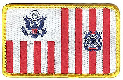 IRON-ON Ensign flag colors W5078 USCG Coast Guard patch