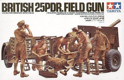 Tamiya 35046 British 25 Pounder Field Gun 1/35 Scale Plastic Model Kit