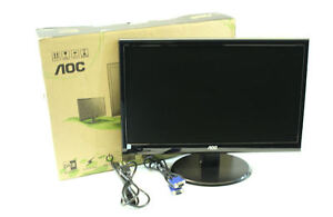 New AOC E2250SWD 22 in Widescreen LED HD Monitor Black