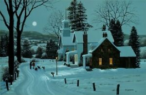 """Silent Night Bill Saunders - Poster overall size is 18""""X24"""""""