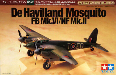Tamiya 60747 1/72 Aircraft Model Kit De Havilland Mosquito FB Mk.VI/NF Mk.II